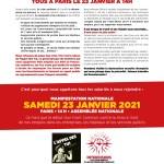 23 janvier : manifestation à Paris contre les licenciements