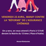 Manifestation le 23 avril : les féministes appellent